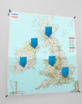 Personalised MICHELIN wall maps